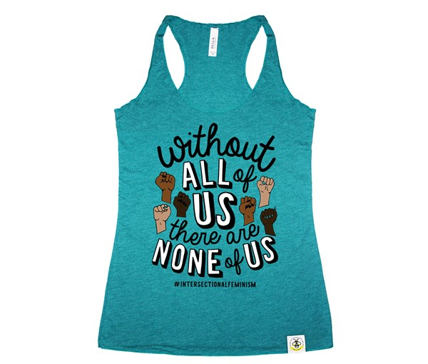 All or None Women's Tank (Teal)