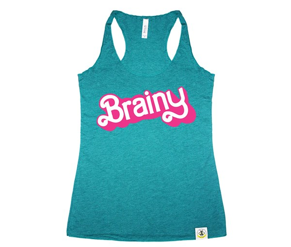 Brainy Women's Tank (Teal)