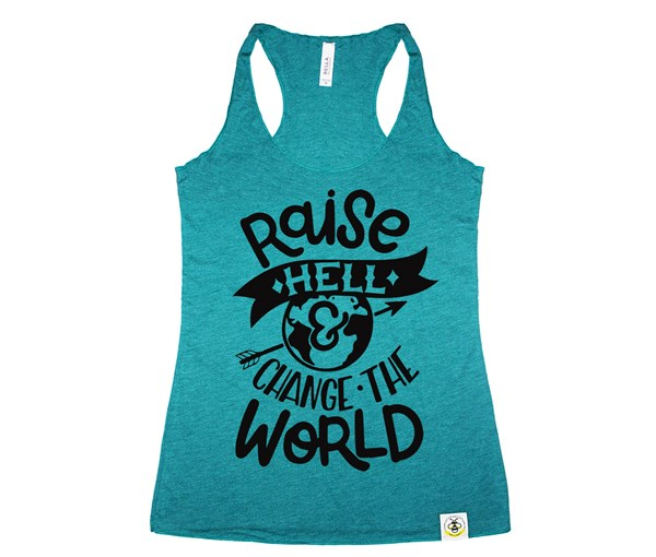 Raise Hell Women's Tank (Teal)