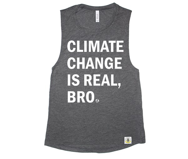 Climate Change Women's Muscle Tank (Charcoal)