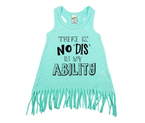 My Ability Fringe Dress (Mint)
