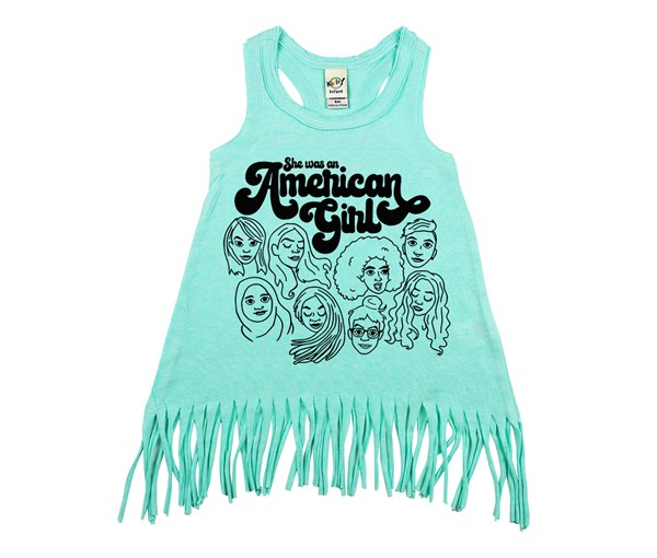 American Girl Fringe Dress (Mint)