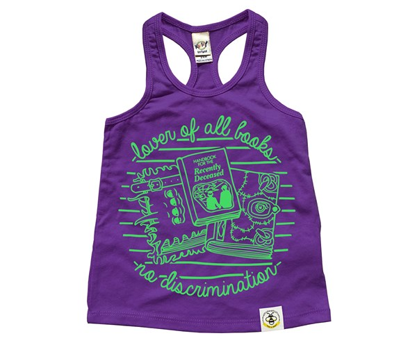 Book Lover Racerback Tank (Purple)