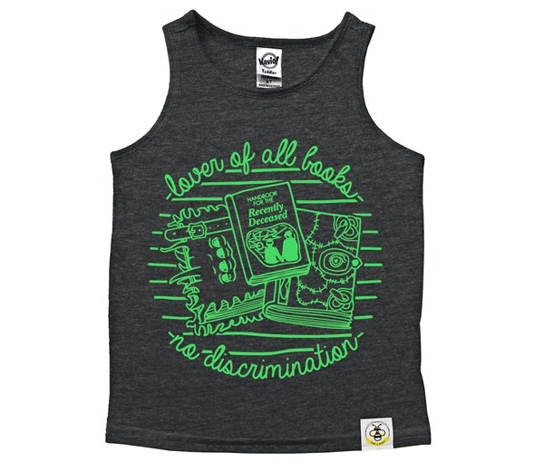 Book Lover Scoop Neck Tank (Heather Charcoal)