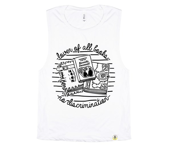 Book Lover Women's Muscle Tank (White)