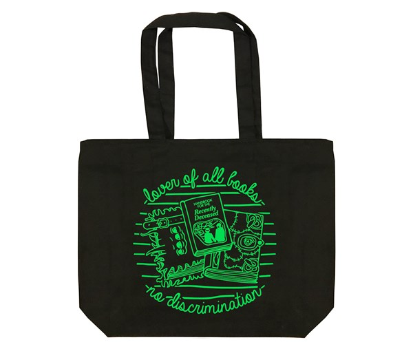Book Lover Tote Bag (Black)