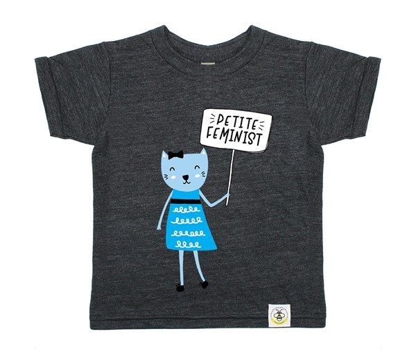 Petite Feminist (Heather Charcoal)