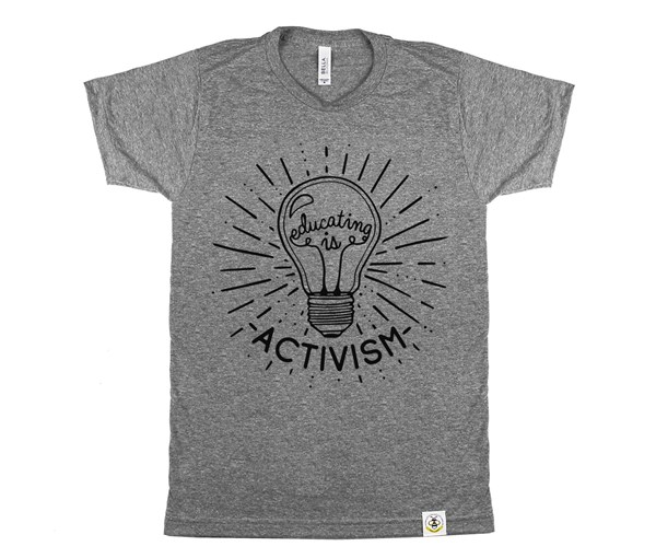 Educating Is Activism Unisex Adult (Grey)