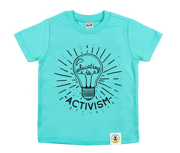 Educating Is Activism (Caribbean Blue)
