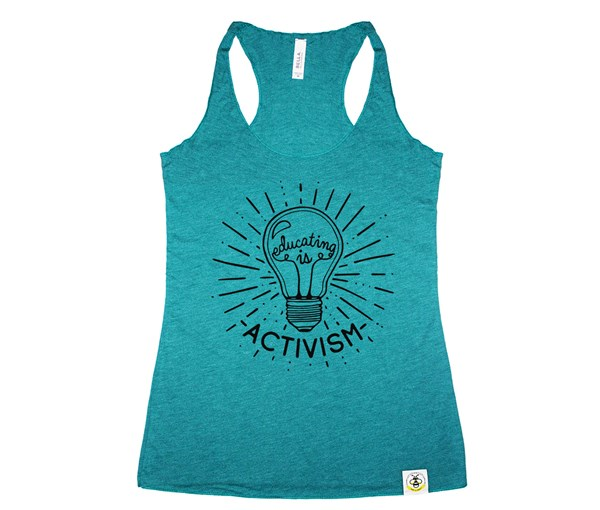 Educating Is Activism Women's Tank (Teal)