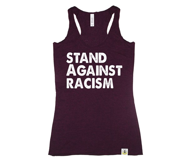 Stand Against Racism (Women's Tank, Burgundy)