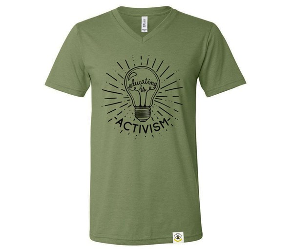 Educating Is Activism Adult (Military Green)