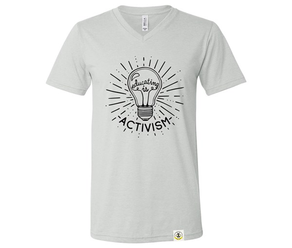 Educating Is Activism (Adult V-Neck)