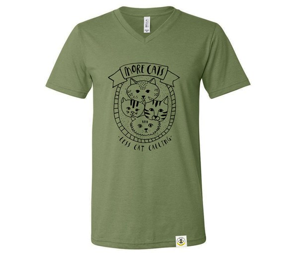More Cats Adult (Military Green)