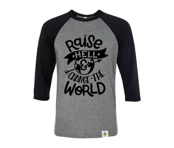 Raise Hell Adult Unisex Raglan