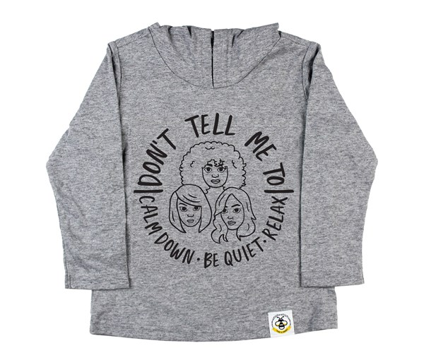 Calm Down Hooded Tee (Grey)