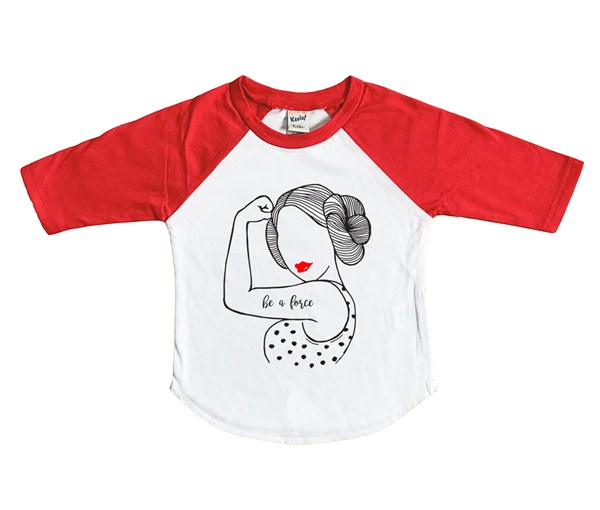 Be A Force Raglan (White/Red)