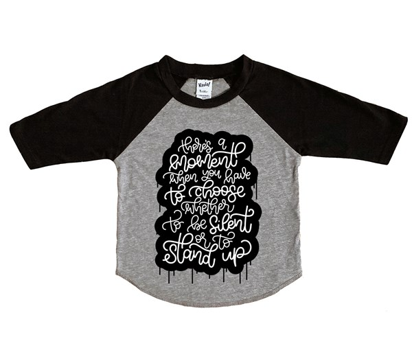 Stand Up Raglan (Grey/Black)