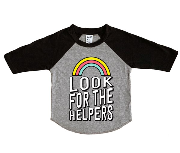 Look for the Helpers (Kids Raglan)