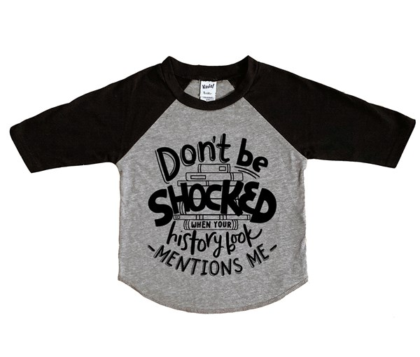 Don't Be Shocked (Kids Raglan)