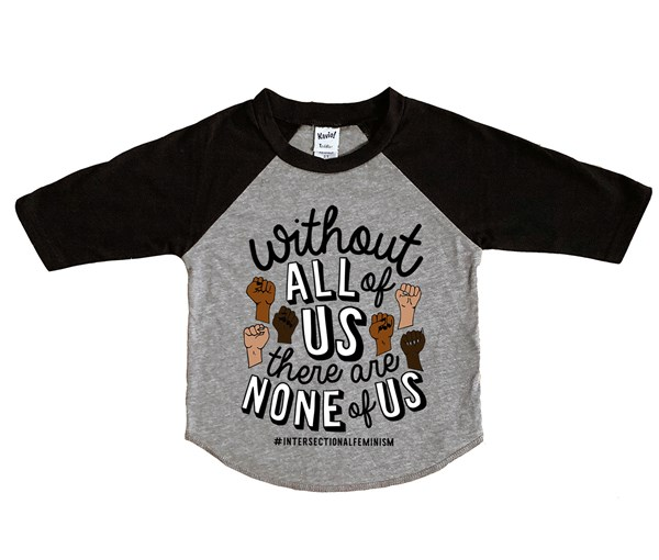 All or None Raglan (Grey/Black)