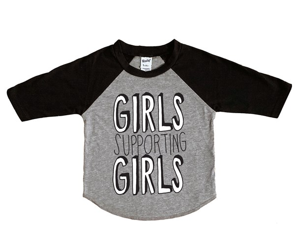 Girls Supporting Girls (Kids Raglan)