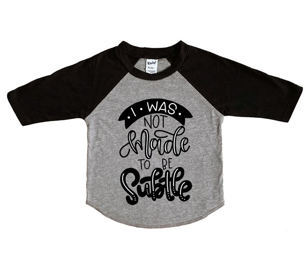 Not Subtle Raglan (Grey/Black)