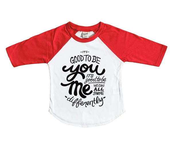 Good to Be Raglan (White/Red)