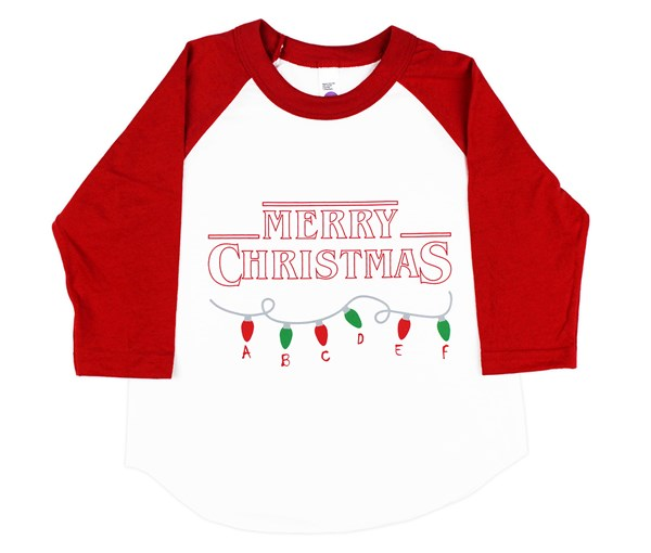 Stranger Christmas Raglan (White/Red)