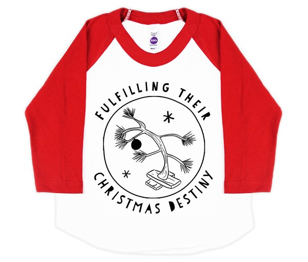Christmas Destiny Raglan (White/Red)