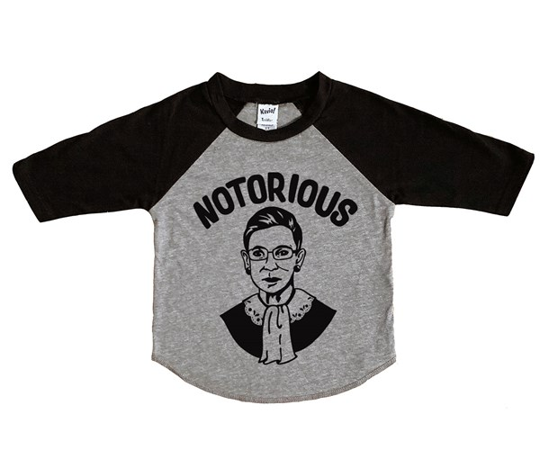 Notorious RBG Raglan (Grey/Black)