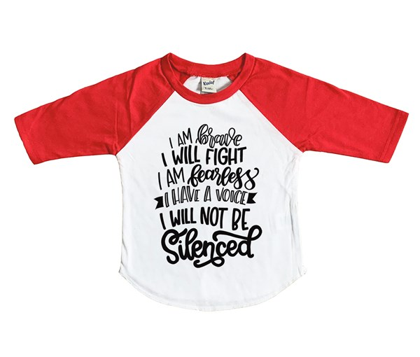 Not Silenced (Kids Raglan)