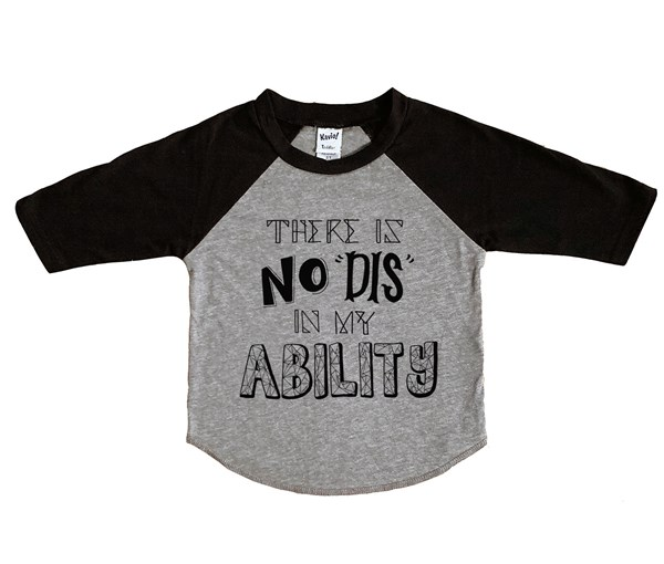 My Ability Raglan (Grey/Black)