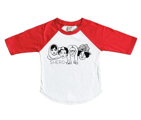 Shero Raglan (White/Red)