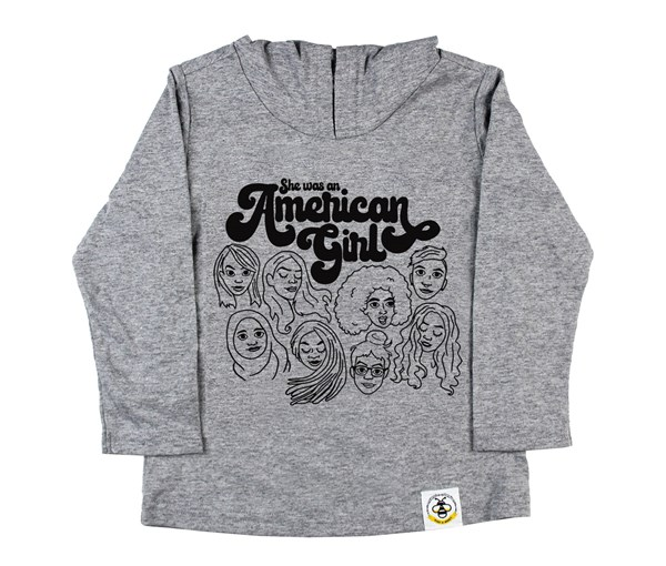 American Girl Hooded Tee (Grey)