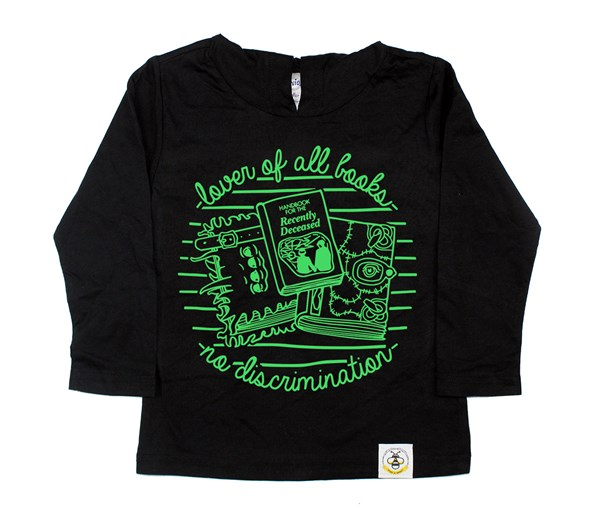 Book Lover Hooded Tee (Black)