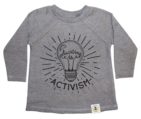 Educating is Activism French Terry Long Sleeve (Grey)