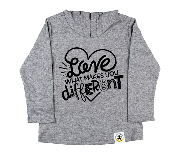 Different Hooded Tee (Grey)