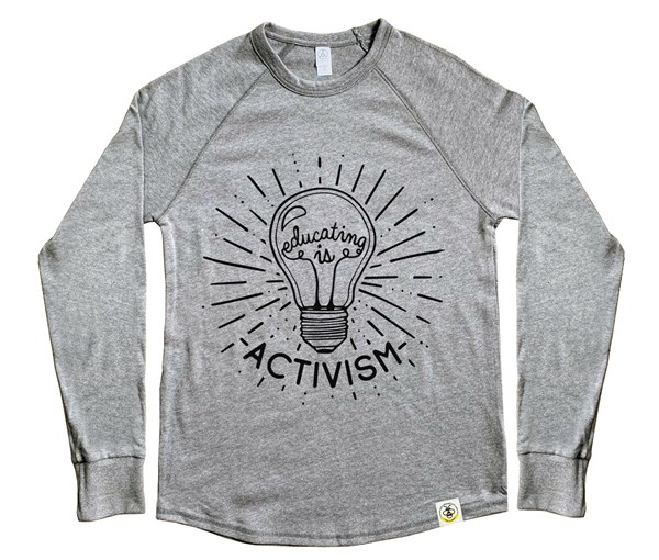 Educating is Activism Adult Unisex Vintage Knit Pullover