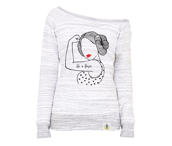Be A Force Women's Wide Neck Sweatshirt