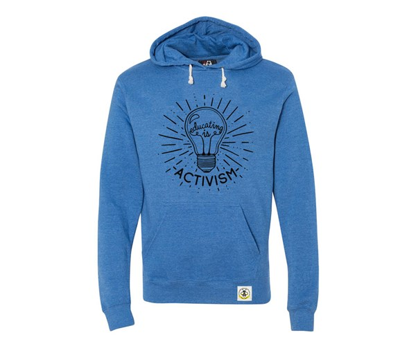 Educating is Activism Adult Unisex Hoodie (Royal Blue)