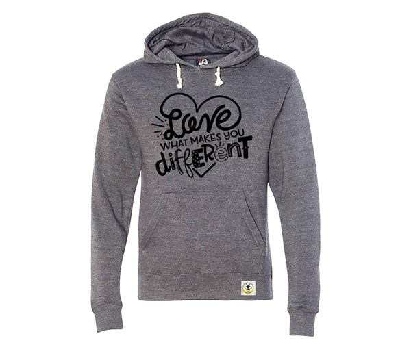 Different Adult Unisex Hoodie (Grey)