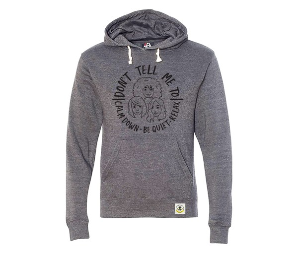 Calm Down Adult Unisex Hoodie (Grey)