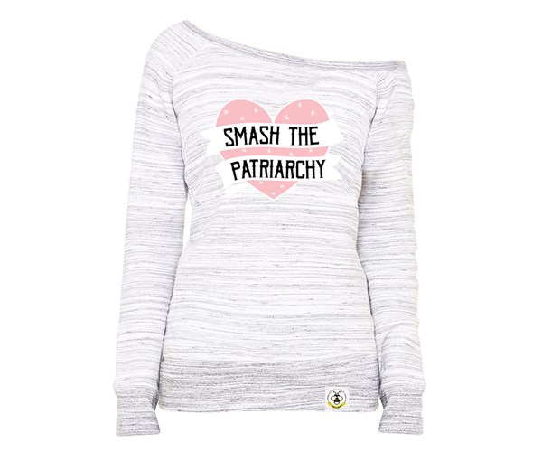Smash the Patriarchy (Women's Wide Neck Sweatshirt)