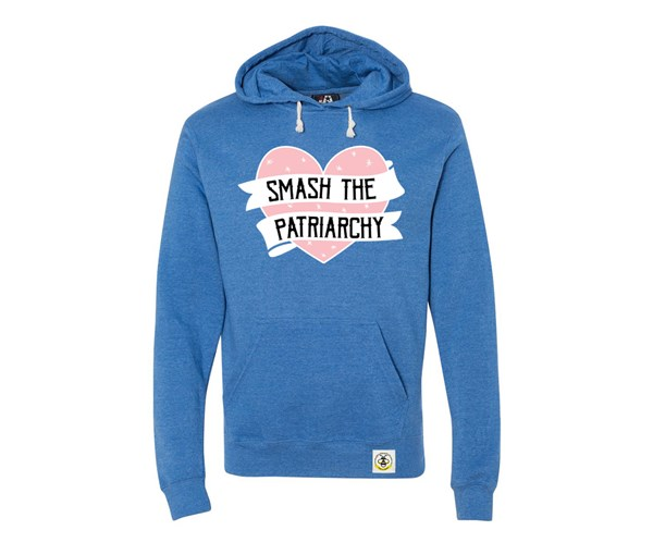 Smash the Patriarchy Adult Unisex Hoodie (Royal Blue)