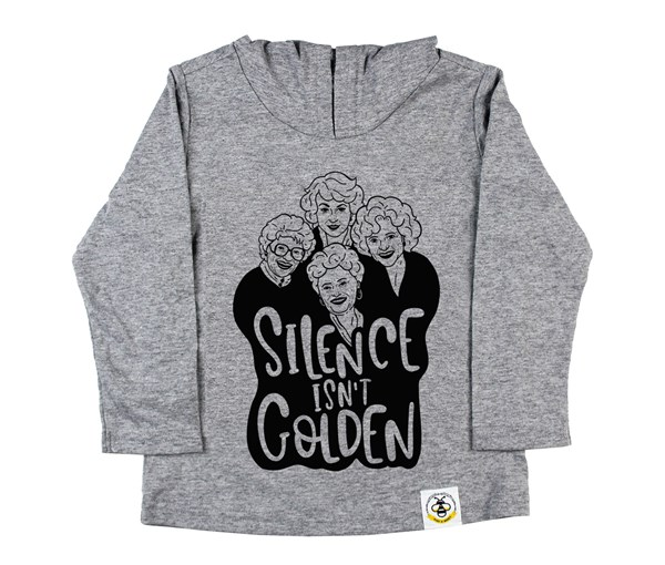 Golden Hooded Tee (Grey)