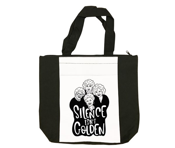 Golden Tote Bag (Black/White)