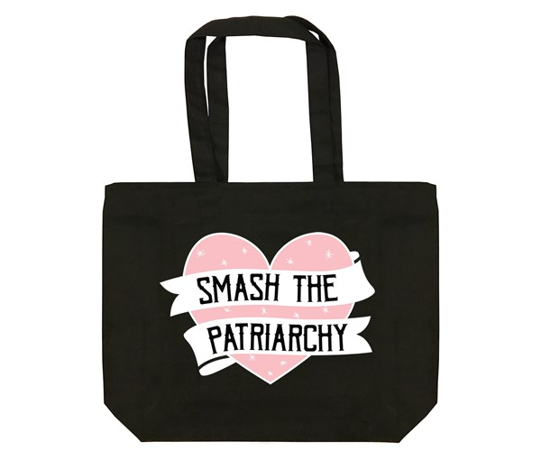 Smash the Patriarchy Tote Bag (Black)