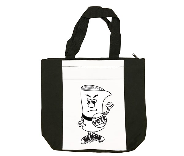 Vote Tote Bag (Black/White)