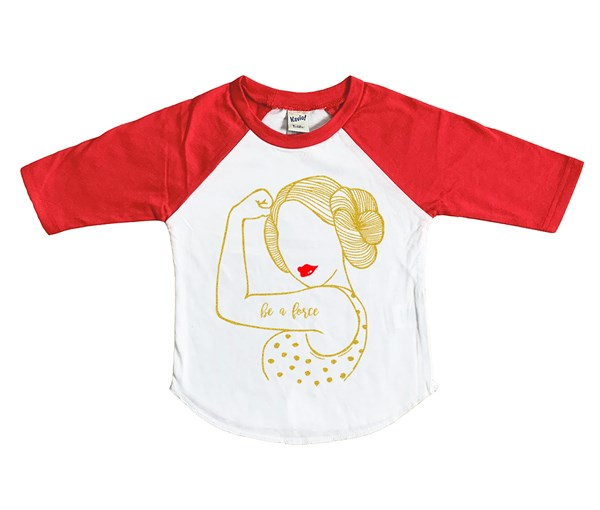 Be A Force Raglan (White/Red--Limited Edition Gold)